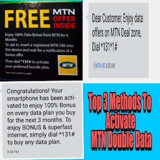 Top 3 methods to activate Mtn double data