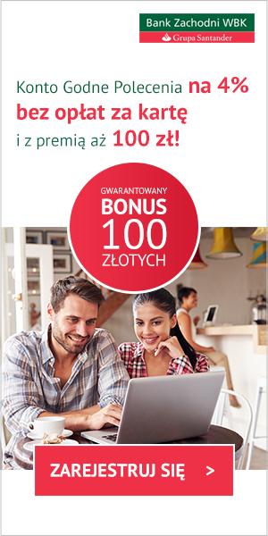 Comperia Bonus 6: 100 zł premii do Konta Godnego Polecenia w BZ WBK
