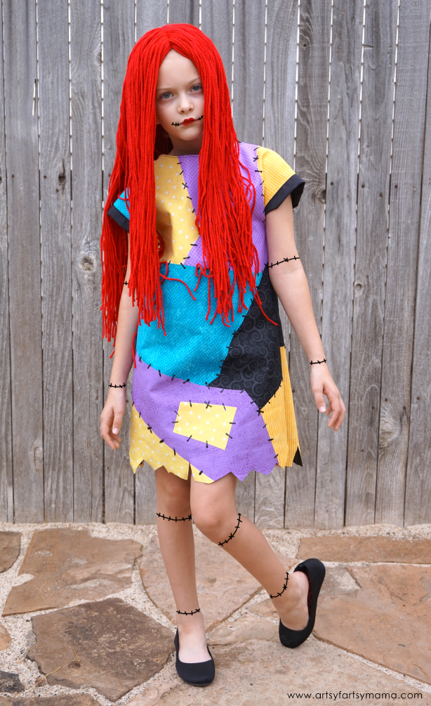 diy nightmare before christmas sally costume dress and wig tutorial - Sally Nightmare Before Christmas Wig
