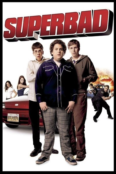 Poster of Superbad 2007 UnRated 720p English BluRay With ESubs Download