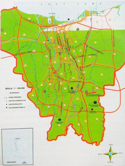 letak Provinsi DKI Jakarta berada di bab barat bahari Pulau Jawa Letak Geografis DKI Jakarta