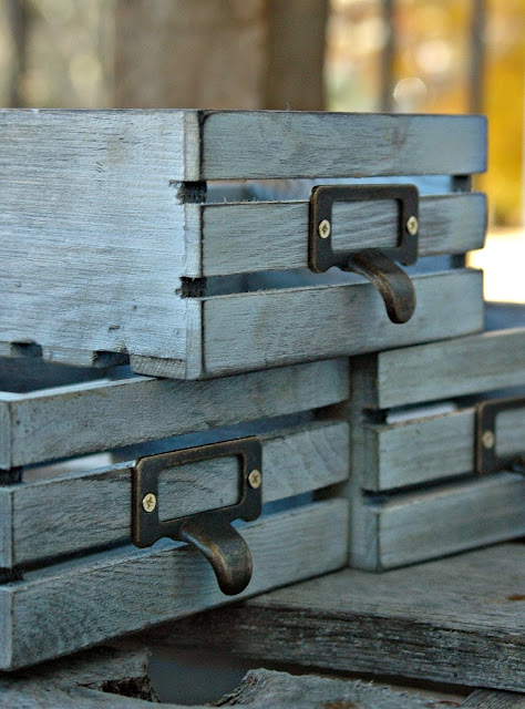 distressed wood boxes