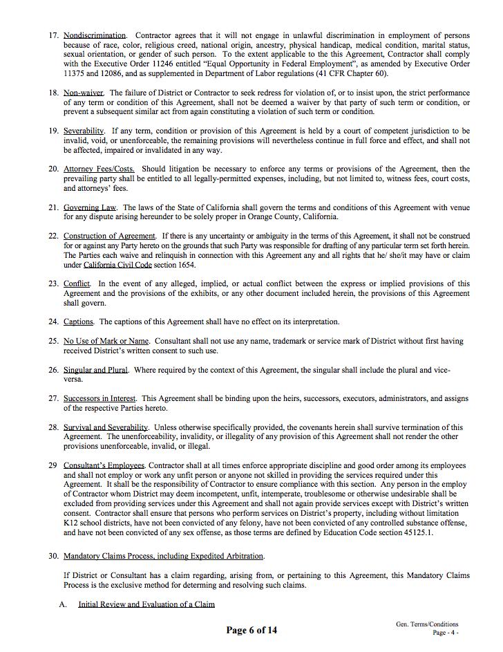 Public Disclosure Capistrano Unified School District September 2016