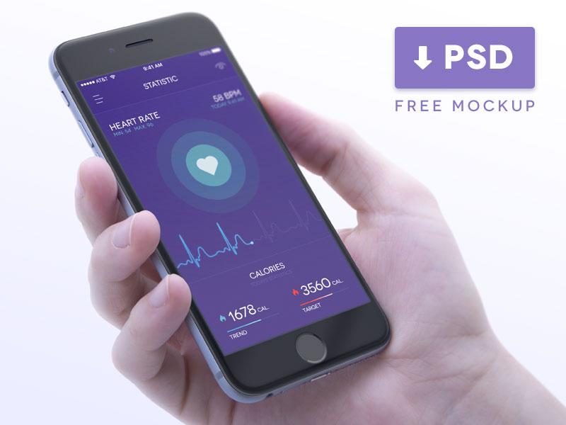 Health iPhone 6 Mockup