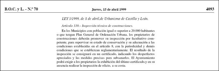 ite en valladolid ley urbanismo castilla y leon 1999