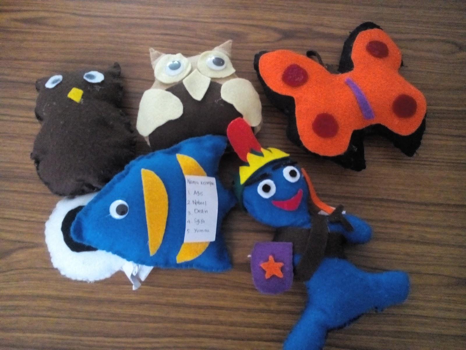 Kreasi Membuat Boneka Kain Flanel Praktik Sbk Kelas Vi Sd Labschool