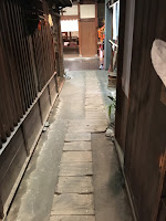 Narrow Shitamachi alleyway in the museum