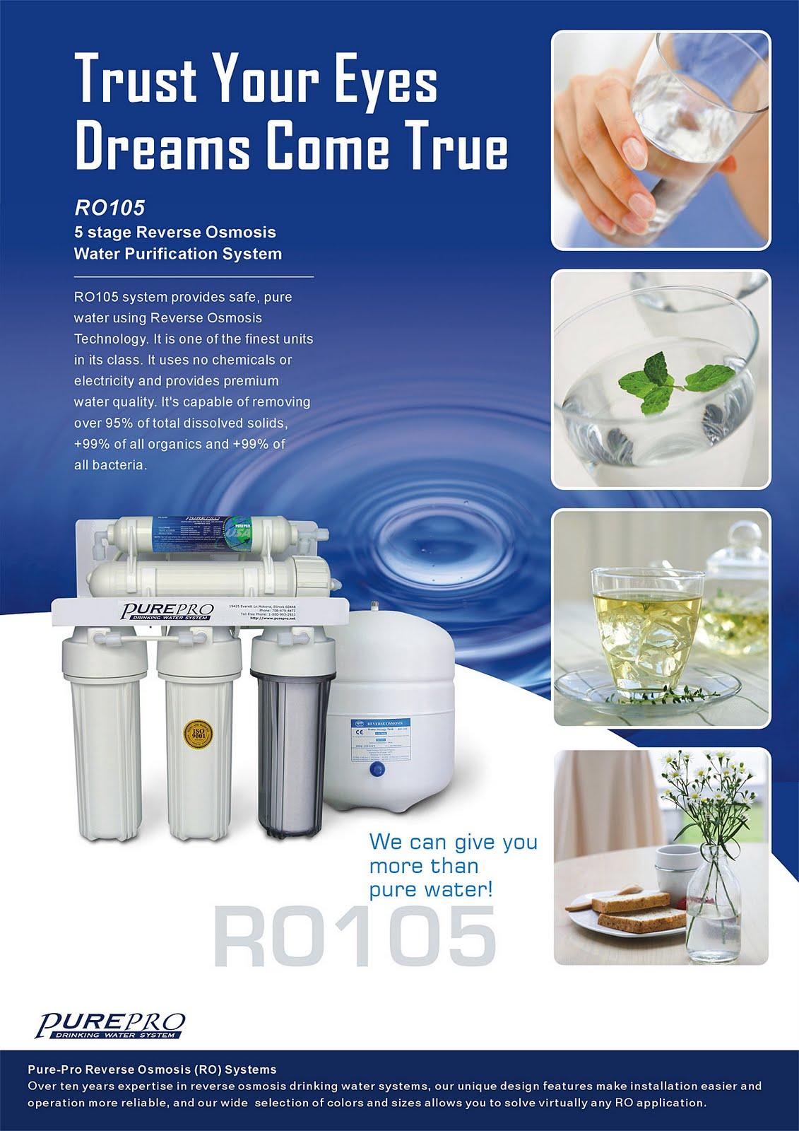PurePro® RO105 Reverse Osmosis Pure Water Filtration System