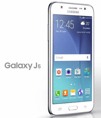 Samsung Galaxy J5 Specifications - LAUNCH Announced 2016, March Versions J510FN (Europe); J510F (HK, India, South Africa, Thailand); J510G (Malaysia, Indonesia); J510Y (New Zealand); J510M (LATAM) Also Known As Samsung Galaxy J5 Duos (2016) with dual-SIM card slots DISPLAY Type Super AMOLED capacitive touchscreen, 16M colors Size 5.2 inches (~70.7% screen-to-body ratio) Resolution 720 x 1280 pixels (~282 ppi pixel density) Multitouch Yes, up to 5 fingers BODY Dimensions 145.8 x 72.3 x 8.1 mm (5.74 x 2.85 x 0.32 in) SIM Single SIM (Micro-SIM) or Dual SIM (Micro-SIM, dual stand-by PLATFORM OS Android OS, v6.0.1 (Marshmallow) CPU Quad-core 1.2 GHz Cortex-A53 Chipset Qualcomm MSM8916 Snapdragon 410 GPU Adreno 306 MEMORY Card slot microSD, up to 256 GB (dedicated slot) Internal 16 GB, 2 GB RAM CAMERA Primary 13 MP, f/1.9, 28mm, autofocus, LED flash Secondary 5 MP, f/1.9, LED flash Features Geo-tagging, touch focus, face detection Video 1080p@30fps NETWORK Technology GSM / HSPA / LTE 2G bands GSM 850 / 900 / 1800 / 1900 - SIM 1 & SIM 2 (dual-SIM model only) 3G bands HSDPA 850 / 900 / 1900 / 2100 - J510F, J510G, J510FN  HSDPA 850 / 900 / 1700(AWS) / 1900 / 2100 - J510Y, J510M 4G bands LTE band 1(2100), 3(1800), 5(850), 7(2600), 8(900), 20(800) - J510F, J510FN   LTE band 1(2100), 3(1800), 5(850), 8(900), 20(800), 40(2300) - J510F (India)  LTE band 1(2100), 3(1800), 5(850), 7(2600), 8(900), 40(2300) - J510G  LTE band 1(2100), 2(1900), 3(1800), 4(1700/2100), 5(850), 7(2600), 17(700), 28(700) - J510Y, J510M Speed HSPA 21.1/5.76 Mbps, LTE Cat4 150/50 Mbps GPRS Yes EDGE Yes COMMS WLAN Wi-Fi 802.11 b/g/n, Wi-Fi Direct, hotspot NFC Yes (market dependant) GPS Yes, with A-GPS, GLONASS/ BDS (market dependant) USB microUSB v2.0, USB On-The-Go Radio FM radio, RDS, recording Bluetooth v4.1, A2DP FEATURES Sensors Accelerometer, proximity Messaging SMS(threaded view), MMS, Email, Push Mail, IM Browser HTML5 Java No SOUND Alert types Vibration; MP3, WAV ringtones Loudspeaker Yes 3.5mm jack Yes  - Active noise cancellation with dedicated mic BATTERY  Removable Li-Ion 3100 mAh battery Stand-by  Talk time  Music play  MISC Colors White, Black, Gold, Rose Gold SAR EU 0.45 W/kg (head)     1.17 W/kg (body)   - ANT+ support - MP4/WMV/H.264 player - MP3/WAV/WMA/eAAC+/FLAC player - Photo/video editor - Document viewer