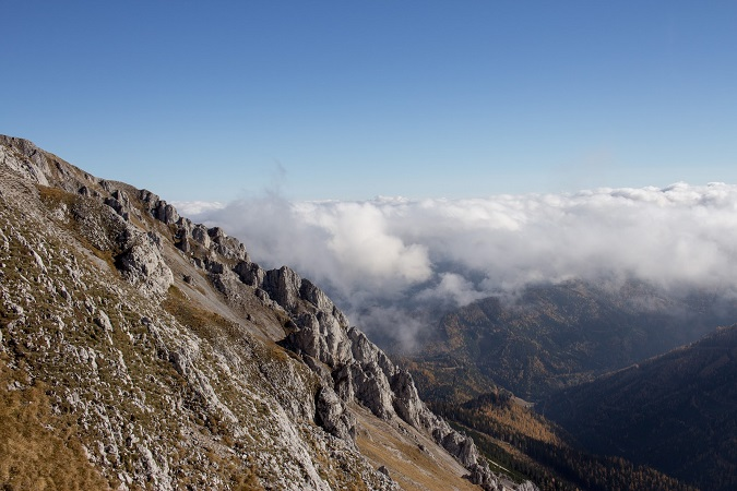 Wandern Hochsteiermark | Von der Laufstraße am Präbichl zum Gipfel des Hochturm | Blick nach Trofaiach