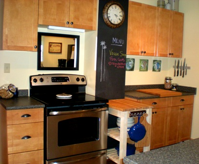 Designdreams by anne ikea bekvam kitchen cart makeover for Microwave table ikea