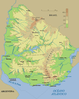 Mapa do Uruguai