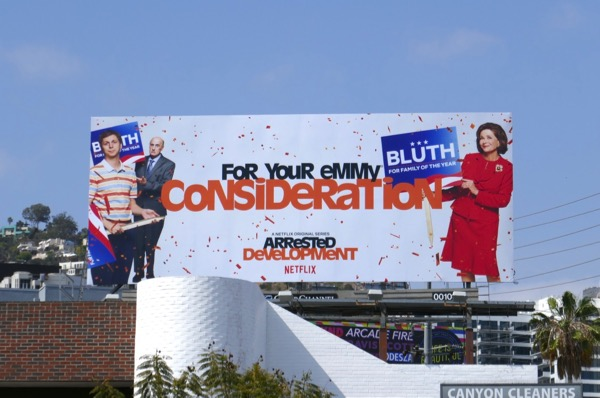 Arrested Development season 5 Emmy consideration billboard