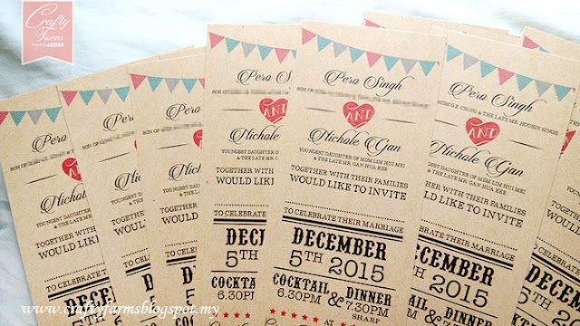 Rustic Flag Banner Wedding Card