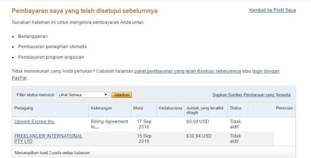 pembayaran yang sudah saya setujui sebelumnya
