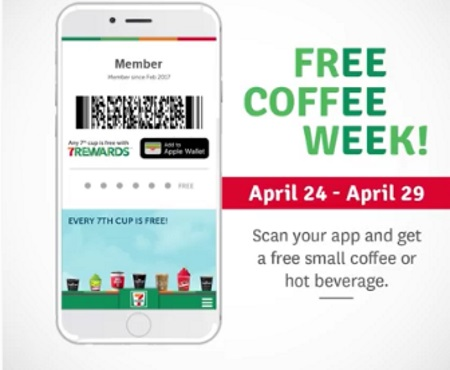 7 Eleven Free Coffee Week