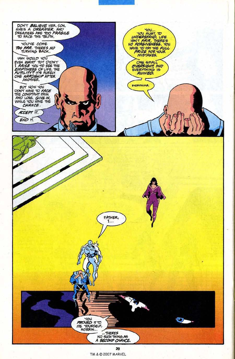Read online Silver Surfer (1987) comic -  Issue #84 - 22