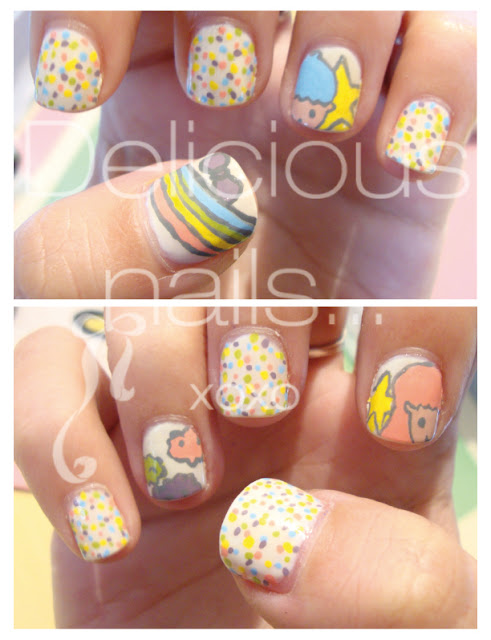 Delicious Nail Designs: Delicious Nails...: I ♥ Little Twin Stars