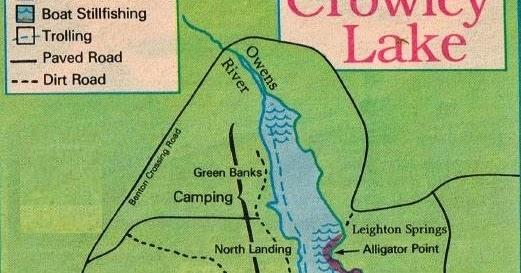 Crowley Lake Fishing Map And Fishing Report And Mono Hunting - Crowley lake map