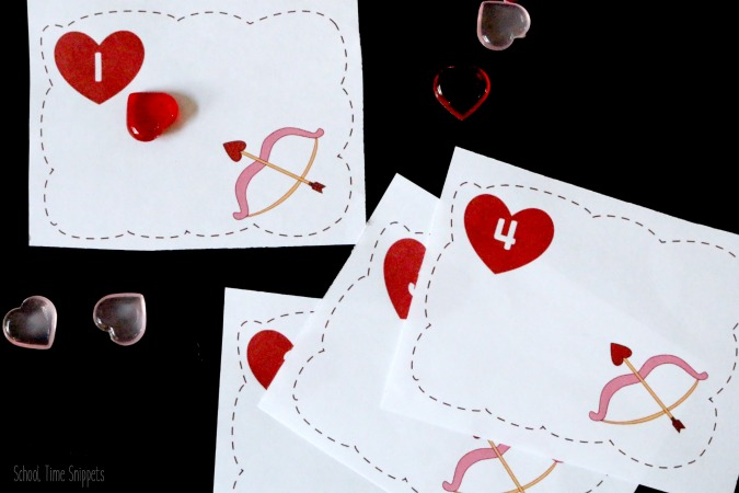 Valentine's Day Preschool Counting Activity