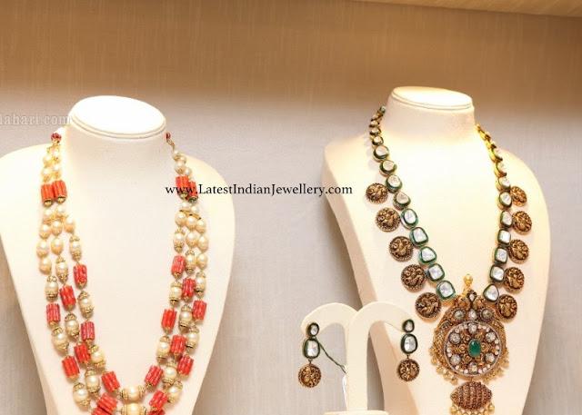 Coral Beads Mala Kasu Haram