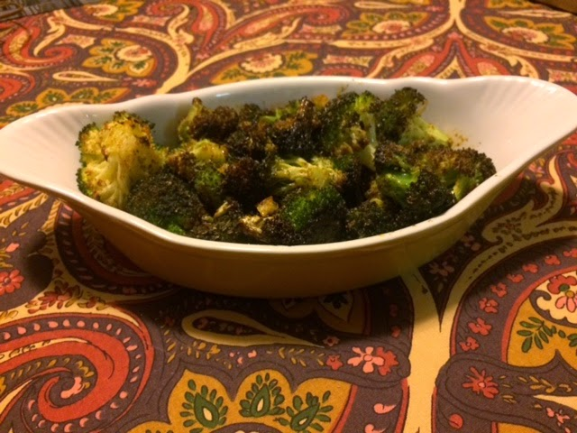 Clean eating crispy roasted garlic broccoli