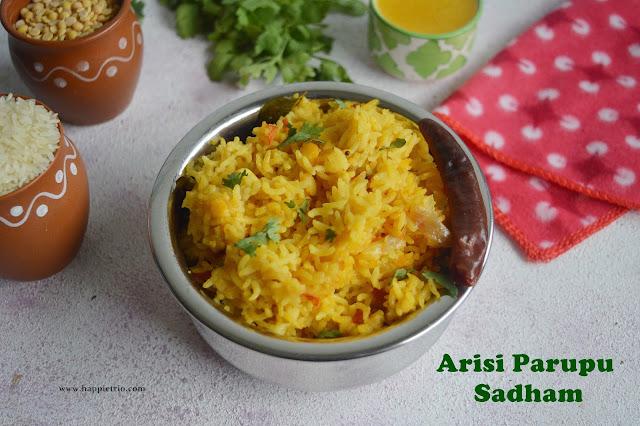 Arisi Parupu Sadham Recipe | Coimbatore Style Dal Rice | Kongunad Dal Rice
