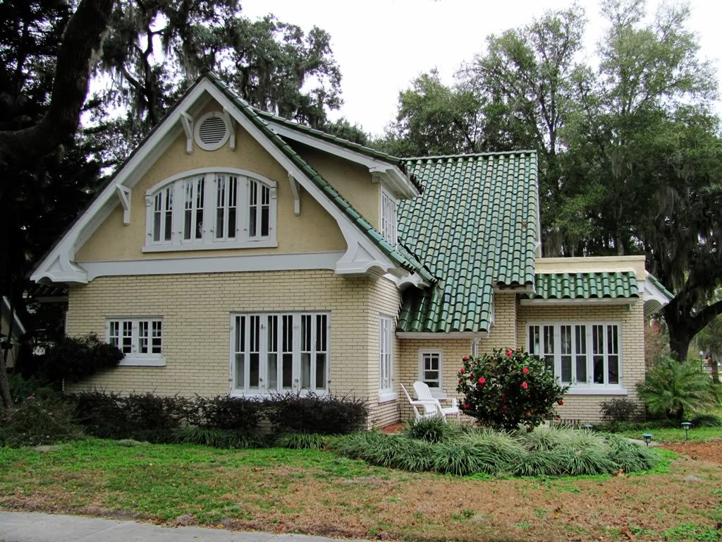 This old coconut grove decisions barrel roof tile - Exterior paint colors with green metal roof ...