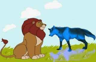 El lobo y el león: fabula sobre animales