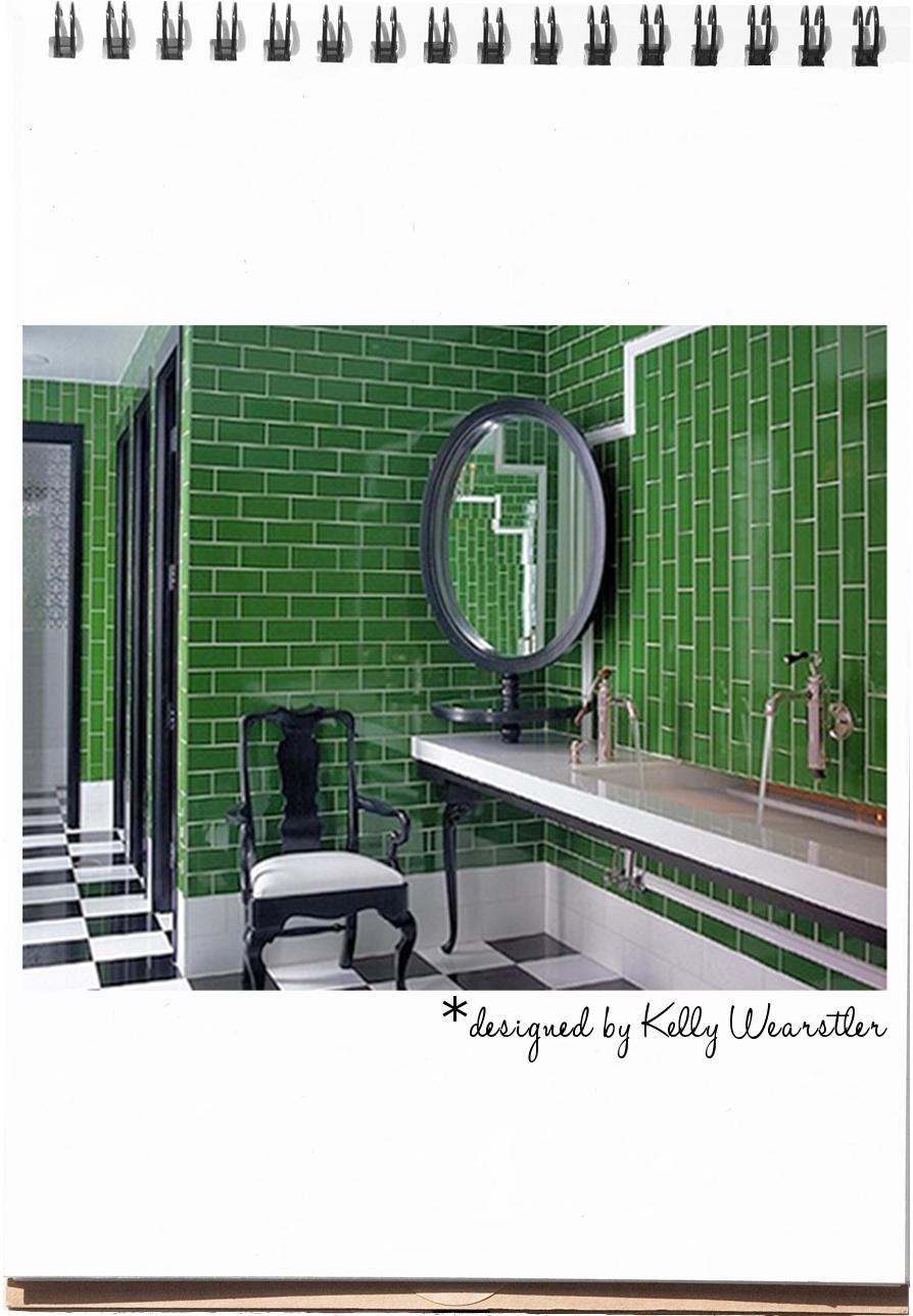 Interiors Kelly Green Black White