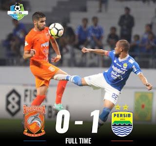 Borneo FC vs Persib Bandung 0-1 plus Video Gol Ghozali Siregar. Liga 1 Senin 17/9/2018.