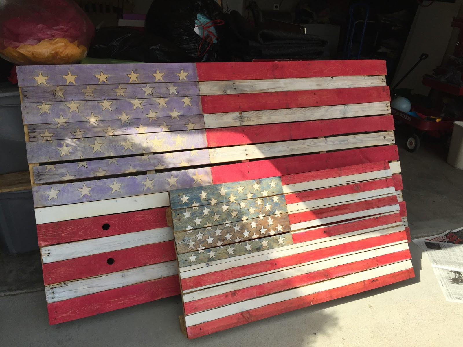 DIY Pallet Flag Is Perfect, Easy Holiday Craft For 4th Of ...
