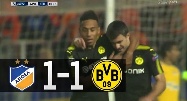 cuplikan gol apoel vs borussia dortmund 1-1