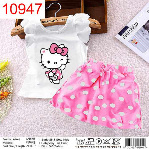 XX SET SARIOO KID PINK - 10947
