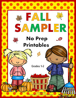 Fall Book for Primary Kids Follow up Activities | Fall Sample of Math and Literacy NO PREP Printables by Primary Teachspiration