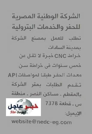 """وظائف الشركة الوطنية المصرية """" خدمات البترول """" منشور بالاهرام - طريقة التقديم"""