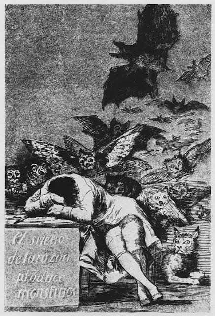 «Сон разума рождает чудовищ» Гойя