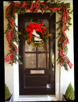 Photo of Stunning Martha Stewart Christmas Front Door Decorations for Black Door