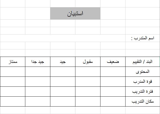 تحليل الاستبيان باستخدام Excel
