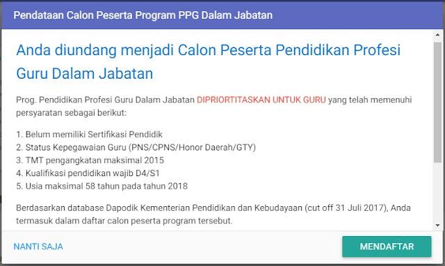Pengumuman Pendaftaran Calon Peserta PPG Melalui Akun SIM PKB Diperpanjang 31 Maret 2018 Pengumuman Pendaftaran Calon Peserta  PPG 2018 Melalui Akun SIM PKB