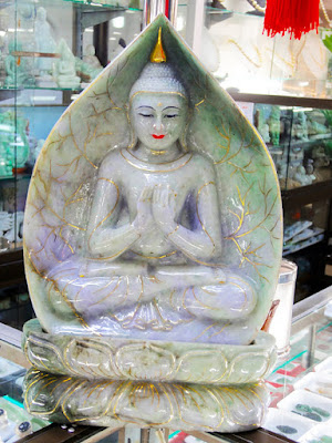 beautiful jadeite jade buddha