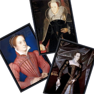 Set of three Mary Queen of Scots fridge magnets