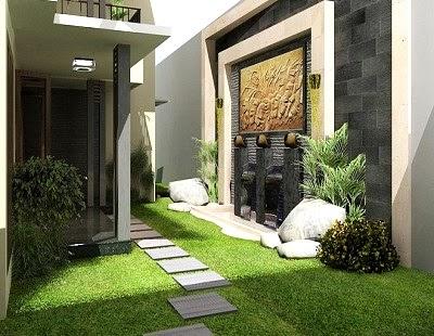 30+ desain taman depan rumah minimalis modern - rumahku unik