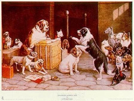 La Serie Completa De Cuadros Perros Jugando A Poker Y 13