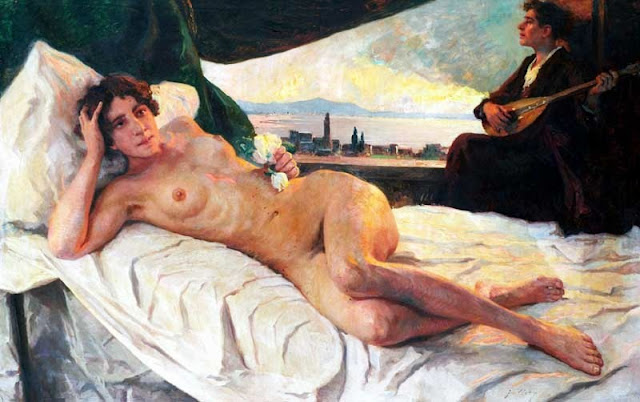 Franz Guillery, Artistic Nude, Portrait arts, Nude Art, Human Study, Nude by Franz Guillery, Painter Franz Guillery
