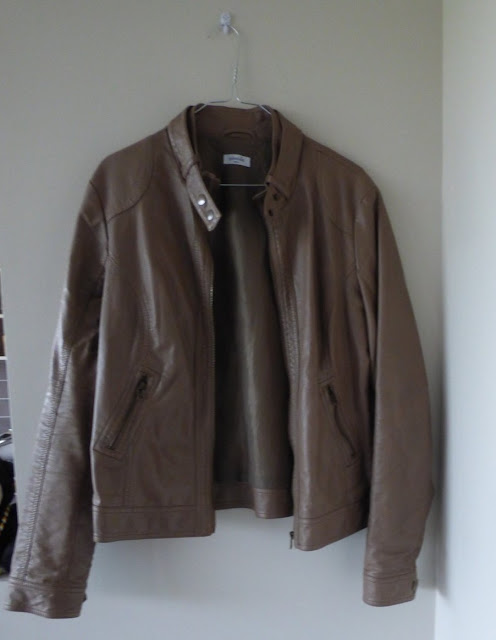 blouson similicuir marron