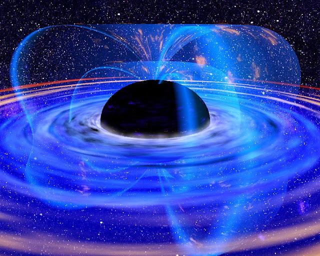 ilustração artística de buraco negro