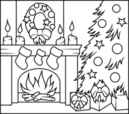 Merry Christmas coloring pages 2017
