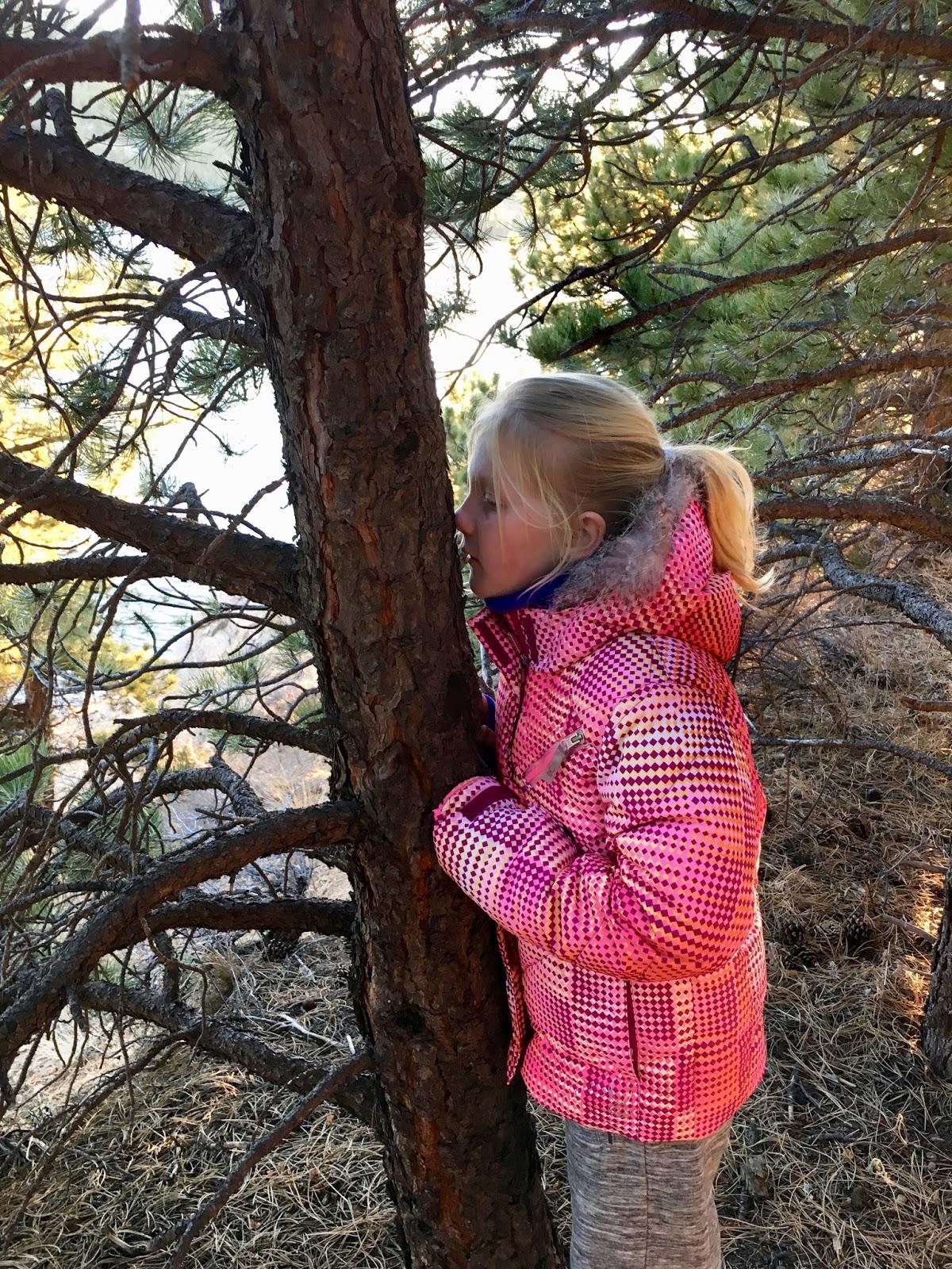Audrey smelling Colorado