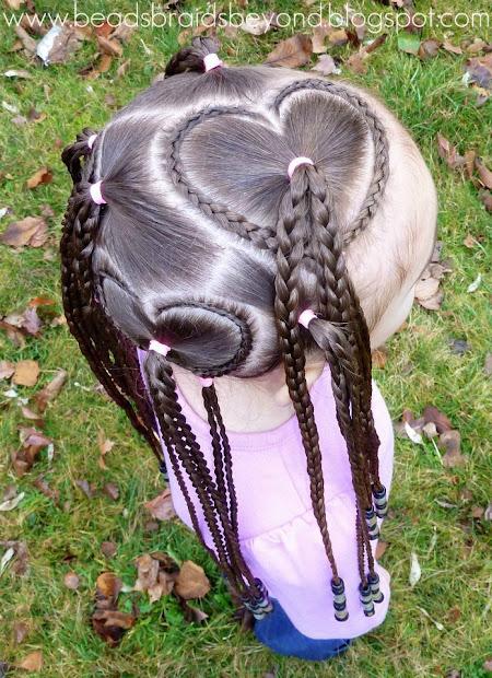 beads braids and valentine's